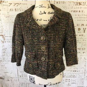 LOFT tweed cropped blazer sz 10